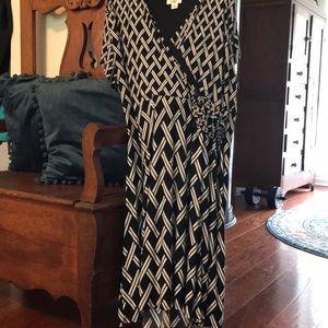 Women's faux wrap dress - size 26